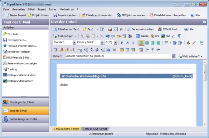 job code bei e mail betreff